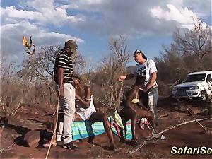 African blow safari orgy