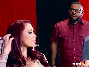 Monique Alexander getting her edible poon romped by a dark-hued chisel