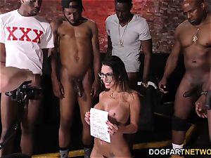 Dava Foxx bi-racial gangbang