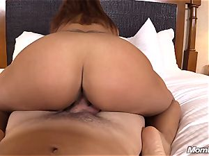 scorching Latina unexperienced cougar first-ever timer