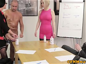 Office female dom affair with Chantelle Fox