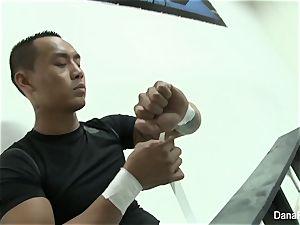 Dana DeArmind gets porked after the MMA match