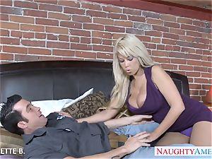 huge-boobed platinum-blonde Bridgette B. take schlong