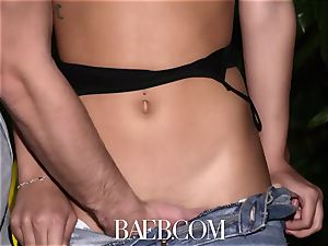 BAEB Latina Gina Valentina opens up snatch for sofa boink