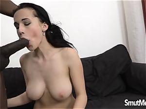 Nicole enjoy ass screwed by a dark-hued pink cigar