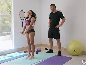 bi-racial drill with Jenna J Foxx after sizzling yoga
