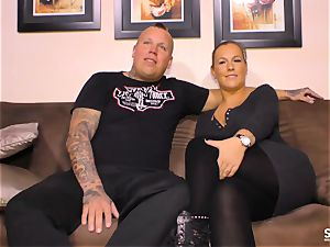 SEXTAPE GERMANY - powerful hookup with tattooed German minx