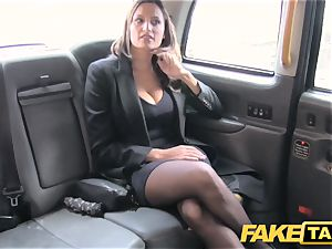 faux taxi scorching buxomy stunner gets meaty cum shot