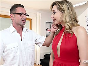 exposed casting - Russian light-haired plumbed at audition