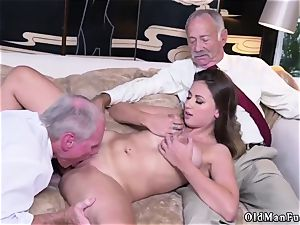 father acquaintance s associate first-timer hard-core Ivy impresses with her large boobies and rump
