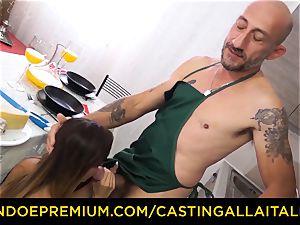 audition ALLA ITALIANA - scorching Italian minx gets deep anal