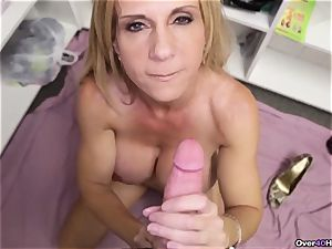 milf Offers Her Helping hand With jizz crammed plums