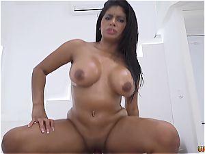 torrid chick from Venezuela gets her rump porked