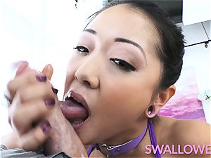 japanese inked honey deep throats it well