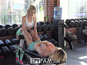 SpyFam Step brutha Catches Step Sisters eating poon