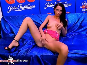 audition girls - super-sexy July Sun thumbs her puss