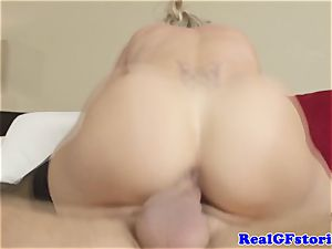 super-hot light-haired housewife milf fucked
