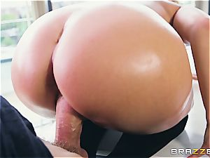 Liza Del Sierra gets her caboose lubricated up and porked by Danny D