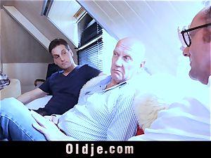 6 oldman banging in gang a wondrous steamy blondie