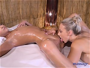 massage rooms fabulous dark haired Amirah Adara