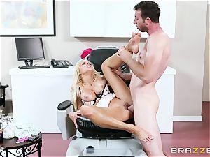 Nina Elle - fondle my gams and do massage my vag