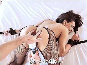 Exotic4k mexican Adrian Hush strapped up ravage and internal ejaculation