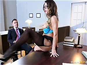 Jessica Jaymes salivates over a lawyers yam-sized hard-on