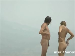 nude beach voyeur spyes on super-sexy nymphs