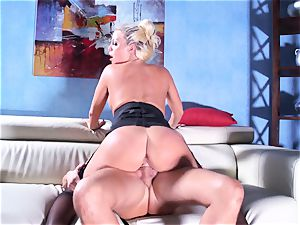 Britney Amber rides her phat bootie on his lollipop