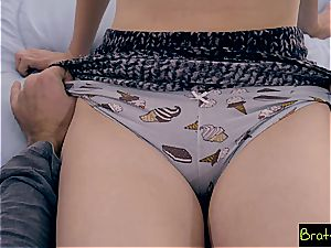 teenage stepsis and her BFF tricked into bro's lovemaking trap