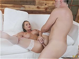 scorching bride needs a giant salami in the butt