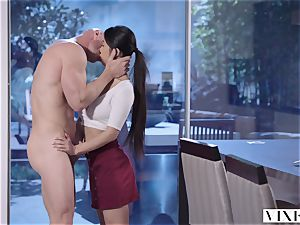 VIXEN youthfull chinese schoolgirl Has passionate orgy With Neighbor