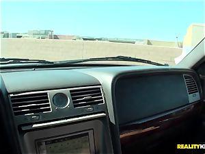 Cali Carter back seat bangs for money