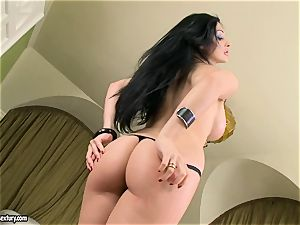 fabulous titted Aletta Ocean unsheathes her meaty bumpers taunting everyone's attention
