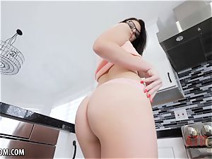 nubile with large tits uses her plaything