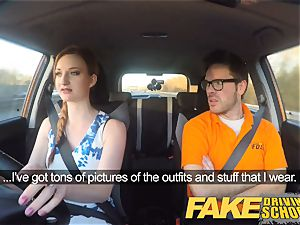 fake Driving college Nerdy red-haired nubile student