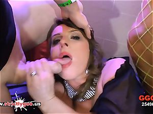 German mom with yam-sized mounds luvs anal invasion and jizz