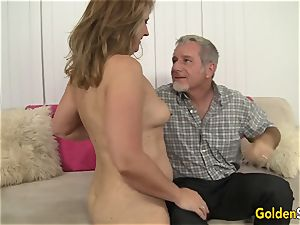 super-steamy to Trot cougar Catrina Costa Takes a humungous dick