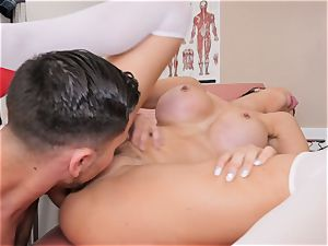 Jasmine Jae bent over and pounded