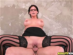 phat titted Phoenix Marie gets her humid vagina stuffed