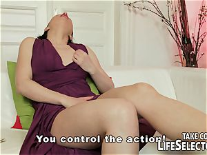 hotwife housemaid gets disciplined by angry wifey.