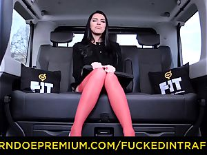 drilled IN TRAFFIC - huge-boobed Russian nailed on backseat