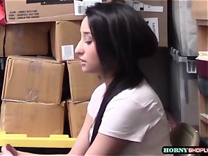 Latina Isabella super-cute gets caught and screwed her raw cooter by Officer