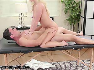 FantasyMassage Bailey Brooke On Top of masseurs spear!