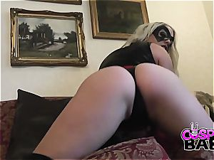 cosplay honey touching herself for you