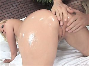 supah nice Vanessa cell gets pummeled on the couch