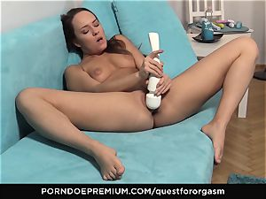 QUEST FOR climax - sexy Blue Angel solo getting off