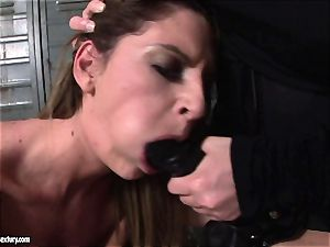 Kathia Nobili lets a warm gal blow her cord on