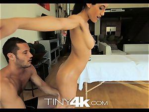 Tiny4K diminutive exotic damsel massaged