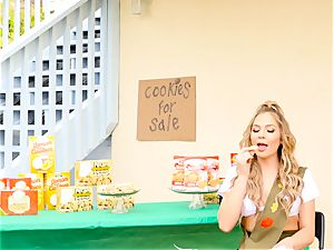 Scout honey Blair Williams sells her sizzling cookies